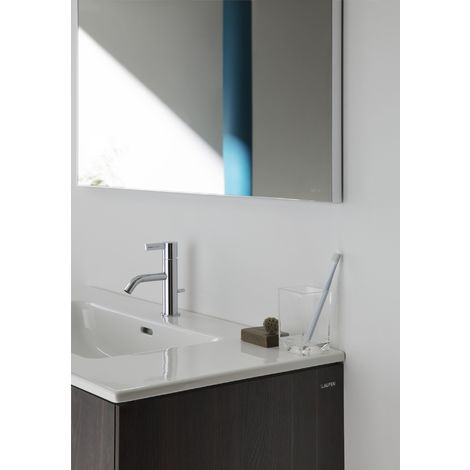 Laufen Pro S Set Base, lavabo, 1 agujero para grifo, rebosadero, incl. mueble bajo lavabo, 2 cajones, 600x500mm, color: Olmo oscuro - H8649602631041