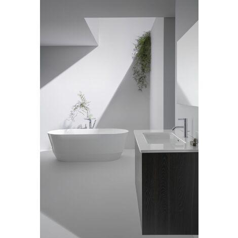 Laufen Pro S Set Base, lavabo, 1 agujero para grifo, rebosadero, incl. mueble bajo lavabo, 2 cajones, 800x500mm, color: Blanco brillante - H8649612611041