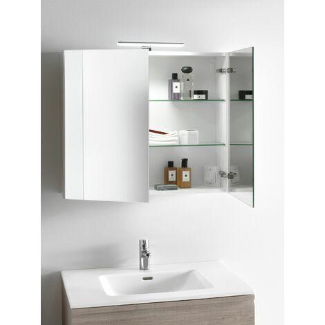 Laufen Pro S Set, lavabo, 1 agujero para grifo, rebosadero, incl. mueble bajo lavabo, 2 cajones, 800x500mm, color: Roble decoración ligera - H8619634791041