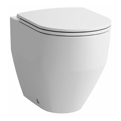 Laufen PRO Stand-WC- Kombination, Tiefspüler, wandnah, 360x700 mm, Farbe: Weiß mit LCC - H8229564000001