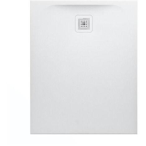 """main image of """"Laufen Receveur de douche en gel coat Marbond, extra-plat, évacuation sur le côté court 100x80, Blanc mat (H2109510000001)"""""""