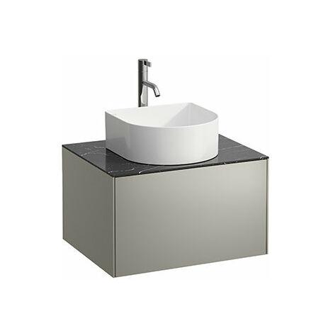 Laufen Sonar Schubladenelement, 1 Schublade, passend zu Waschtisch-Schalen 812340, 812341, 812342, Ausschnitt mittig für Waschtisch und Armatur, Farbe: Gold/ Nero Marquina - H4054050341401