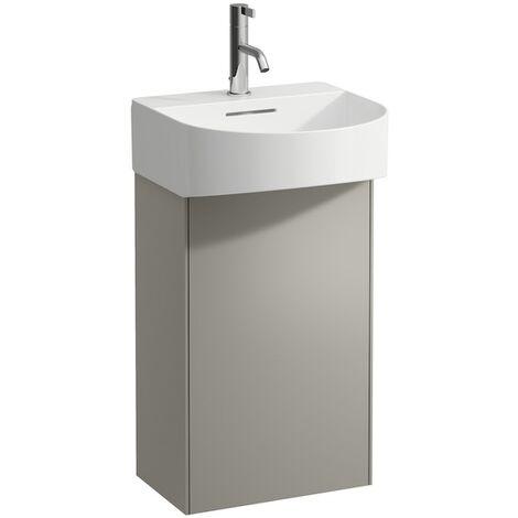 Laufen Sonar washbasin base unit, 1 door, left hinge, fits hand basin 815341, colour: Titanium - H4054810340421