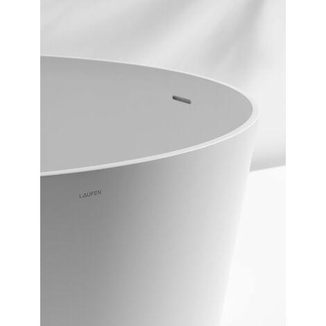 Laufen VAL Baignoire, 1300x1300x505, sur pieds, ronde, avec trop-plein intégré - H2312820000001