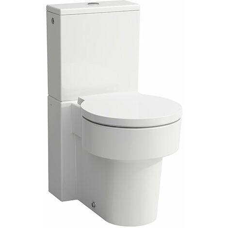 Laufen VAL Stand-WC für Spülkasten, Tiefspüler, spülrandlos, 390x660, weiß, Farbe: Weiß mit LCC - H8242814000001