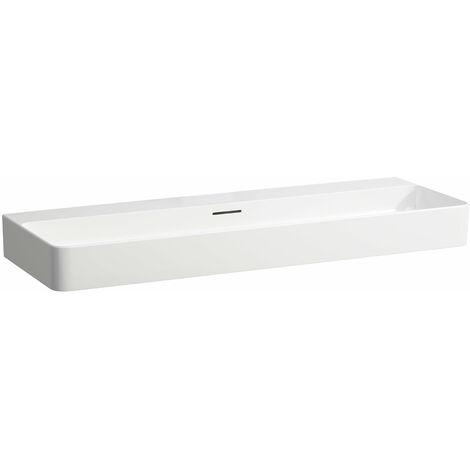 Laufen VAL Vasque sur meuble, sans trou pour robinet, avec trop-plein, 1200x420, blanc, Coloris: Blanc - H8102890001091
