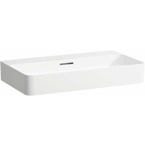 Laufen VAL Vasque sur meuble, sans trou pour robinet, avec trop-plein, 750x420, blanc, Coloris: blanc mat - H8102857571091
