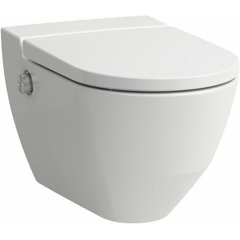 Laufen WC douche Navia Cleanet, lavable 4,5/3 litres, sans rebord, sans rebord, 37x58 cm, Coloris: Blanc avec LCC - H8206014000001