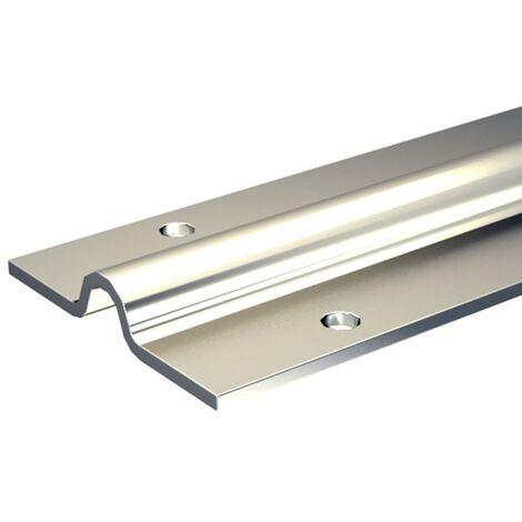 Laufschiene Typ SLID'UP 1600-U15, 195 cm aus verzinktem Stahl, für bodenläufige Schiebetore bis 400 kg, zum Anschrauben