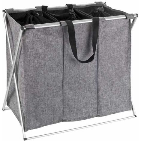 Laundry Bag Trio grey mottled WENKO