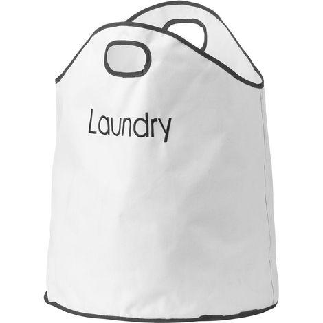 Laundry Bag,Cream Polyester,Dual Handled