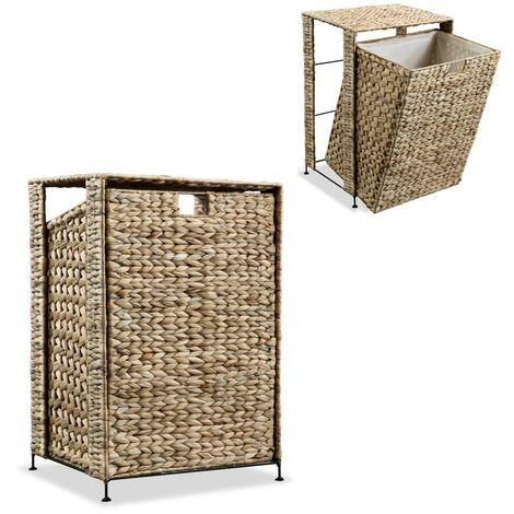 Laundry Basket 44x34x64 cm Water Hyacinth - Brown