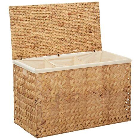 Laundry Basket 82x42.5x52.5 cm Water Hyacinth - Brown