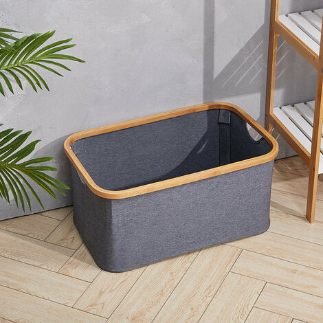Laundry Basket Bucket Storage Box Carrier Organizer Farbic Clothes