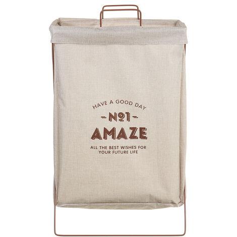 Laundry Basket Fabric Hamper Wash Clothes Storage Bin Organiser