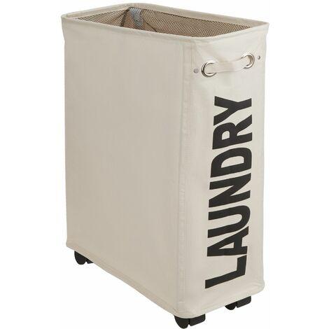 Laundry basket slim - hamper basket, hamper, washing basket