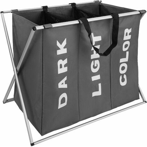 Laundry basket triple - hamper basket, hamper, washing basket
