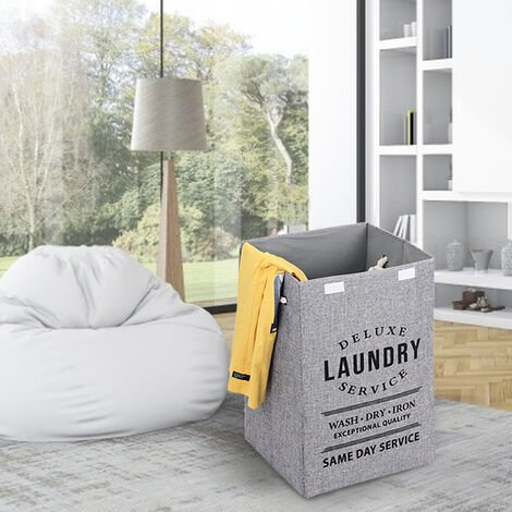 Laundry Baskets Bins Hampers Fabric Blankets Clothing Toys Folding Storage Bags