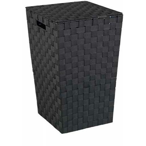 Laundry chest Adria Square Black WENKO