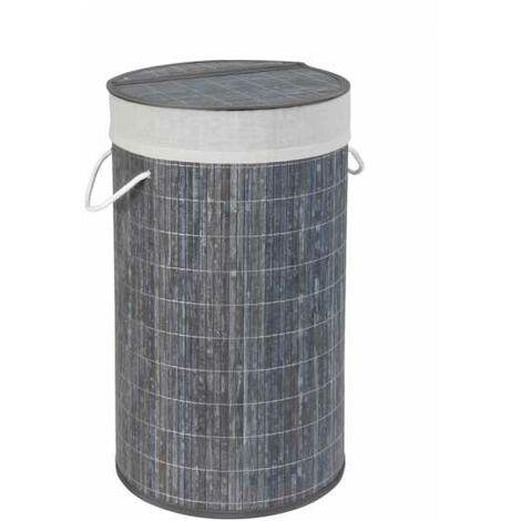 Laundry chest Bamboo Grey WENKO