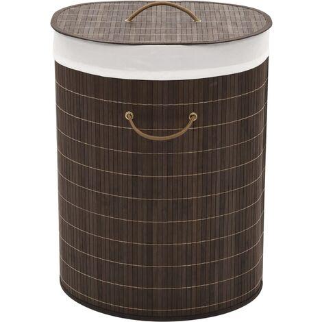 Laundry Hamper Basket Bamboo Washing Clothes Bin Storage 3 Shapes Natural/Brown
