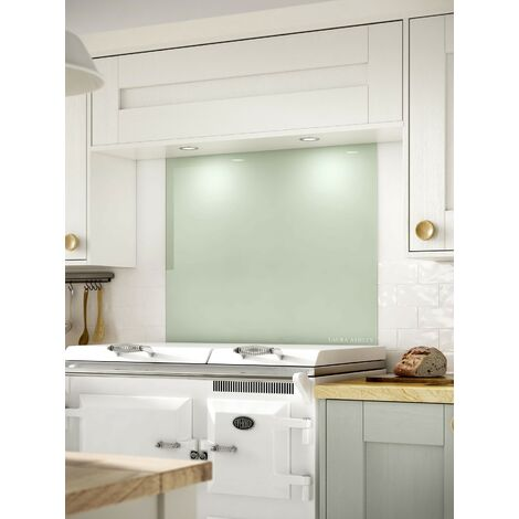 Laura Ashley Eau De Nil Glass Kitchen Splashbacks - different dimensions available