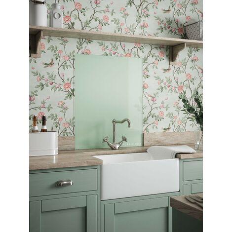 Laura Ashley Eau De Nil Glass Kitchen Splashbacks - different dimensions available