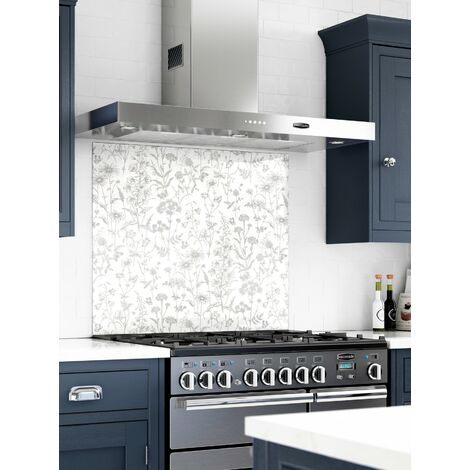 Laura Ashley Lisette White Glass Kitchen Splashbacks - different dimensions available