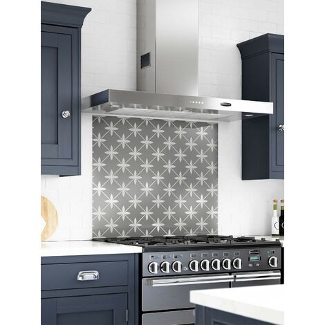 Laura Ashley Wicker Charcoal Glass Kitchen Upstands - different dimensions  available c76d9c662
