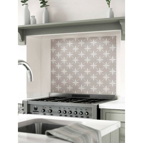 Laura Ashley Wicker Dove Grey Glass Kitchen Splashbacks - different dimensions available