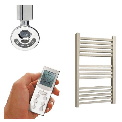 LAUREL ELEMENTS Square Tube Heated Towel Rail / Warmer - Electric + Thermostat, Timer