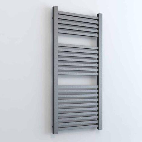 LAUREL ELEMENTS Square Tube Modern Heated Towel Rail / Warmer - Dual Fuel