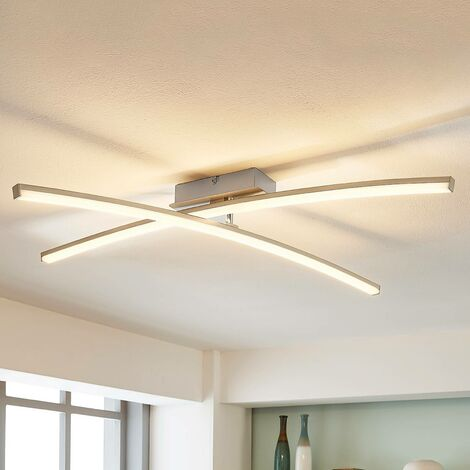 Laurenzia - LED ceiling light in chrome, dimmable