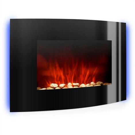 "main image of ""Lausanne chimenea electrica estufa electrica decorativa 2000 W negro"""