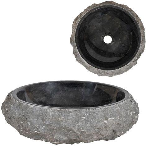 Lavabo 40x12 cm de mármol negro