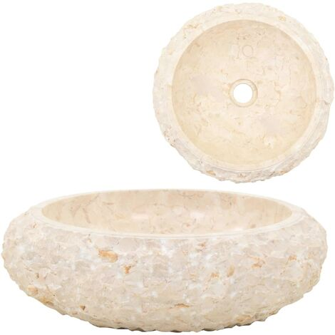 Lavabo 40x12 cm marmol color crema