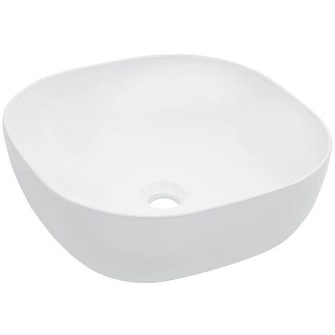 Lavabo 42,5x42,5x14,5 cm cerámica blanco
