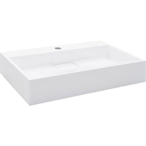 """main image of """"Lavabo 60x38x11 cm Fonte minérale/marbre Blanc"""""""