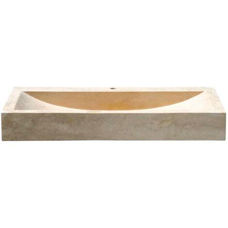 Lavabo à poser en pierre sable L70 x P46 x H10