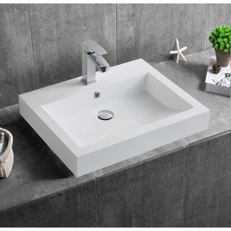 Lavabo à poser ou à suspendre BS6049 60 x 48 x 14cm