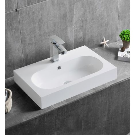 Lavabo à poser ou à suspendre BS6051 - 59 x 37 x 14,5cm