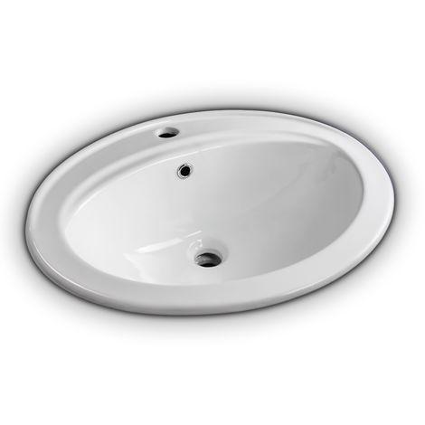 Lavabo ad incasso 56 cm circolare bianco porcellana - H334310001022011