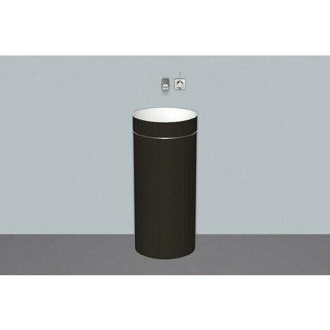 Lavabo Alape WT.RX400.KE, diámetro redondo 40.0cm, 4506500000, color: Bicolor (blanco/negro mate brillante) - 4506500180