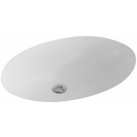 Lavabo bajo encimera Villeroy y Boch Evana 614700 500x350mm, blanco, color: Cerámica Blanca - 614700R1