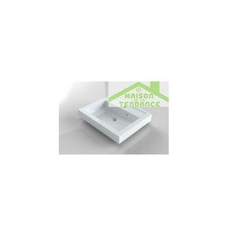 Lavabo blanc à 1 trou en marbre RIHO BOLOGNA 60x48 cm