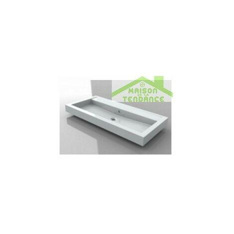 Lavabo blanc sans trou en marbre RIHO BOLOGNA 80x48 cm