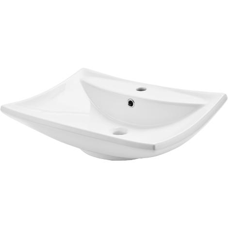 Lavabo Céramique 61x44cm Blanc Wc Pour Invités 52909916