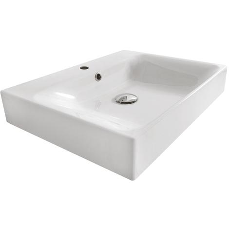 Lavabo céramique Cento à poser ou à suspendre 50-45 cm - Ondyna WCE5045