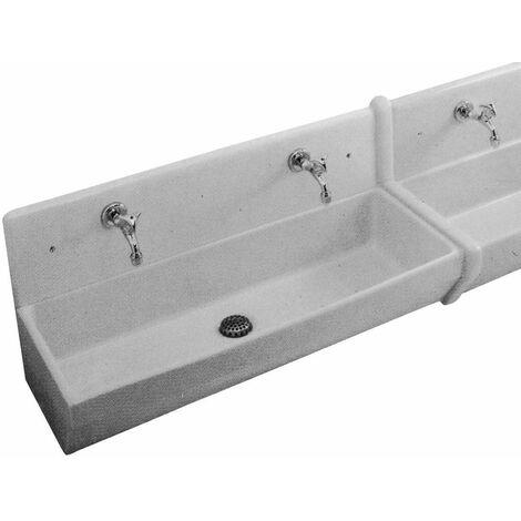 Lavabo collectif O.NOVO - lavabo sans dosseret Couleur : blanc