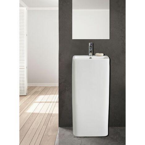Lavabo colonne blanc céramique H85 cm ELITE